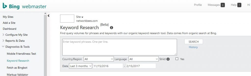 Bing Keyword Tool is one of the best keyword research tools out there