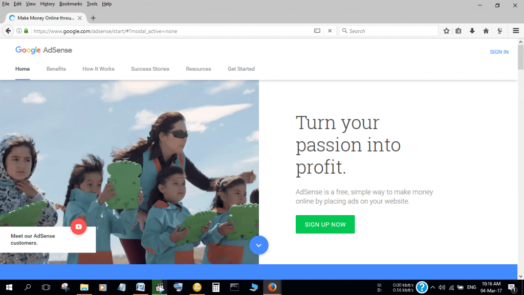 Make money through Google AdSense