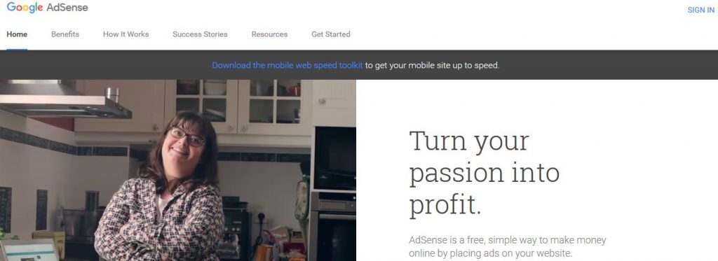 Monetize your site through AdSense