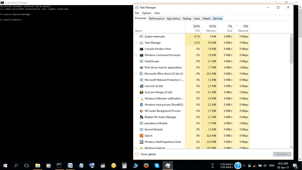 Check Type of RAM through Task Manager