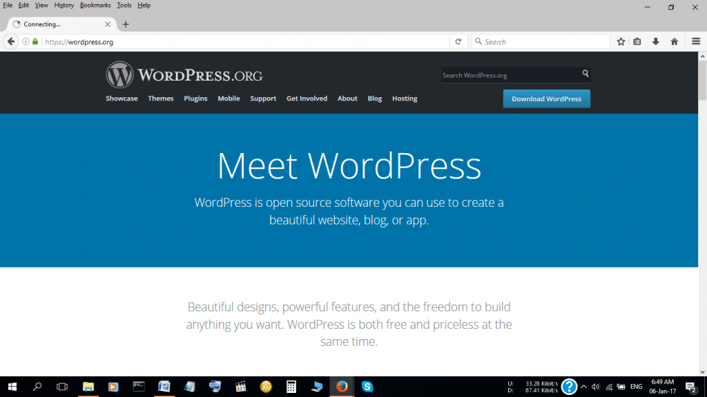 WordPress is the most popular CMS