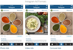 Instagram offers 3 Ad Formats