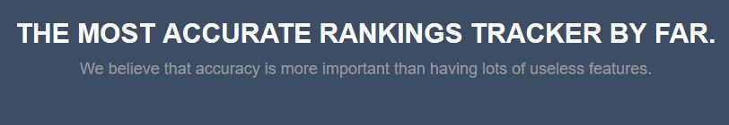 Track search engine rankings at a free trial with RankTrackr