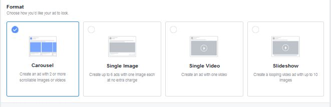 Available Ad Formats for Facebook Ads