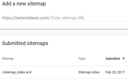 Use Search Console to submit sitemaps