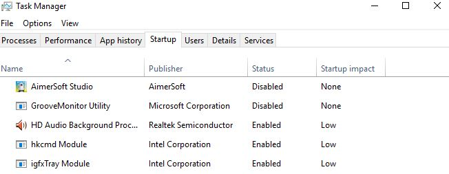 disable startup items to speed up boot up times