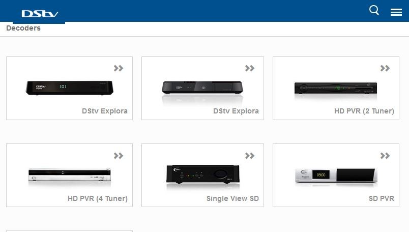 Types of DSTV Decoders and their Prices