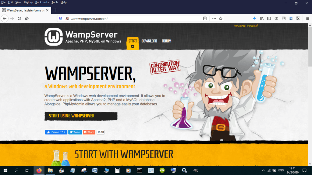 install WordPress on localhost using Wampserver