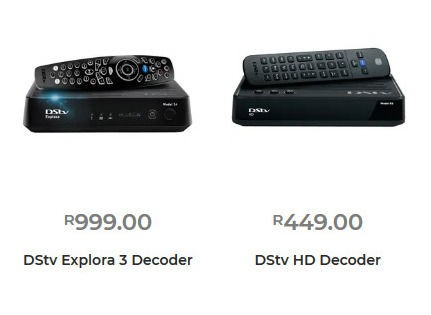 DSTV Decoder prices at PEP