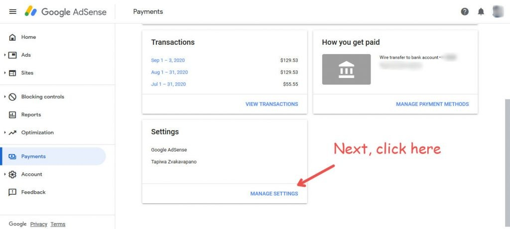 decrease AdSense threshold