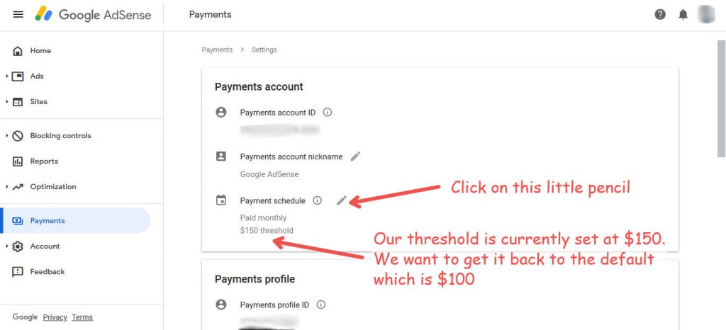 AdSense payments