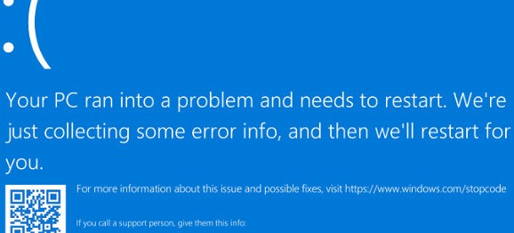 Blue screen of death can be caused by RAM errors