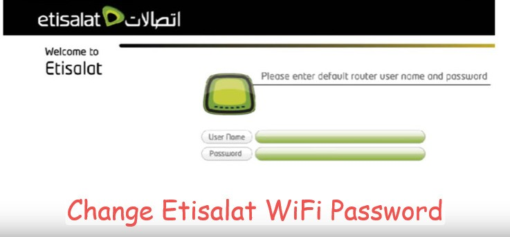 How to Change WiFi Password Etisalat
