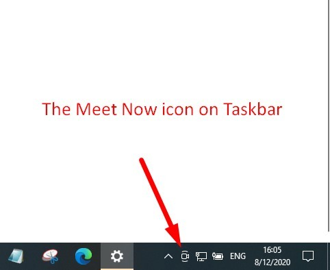 How to remove the Meet Now icon
