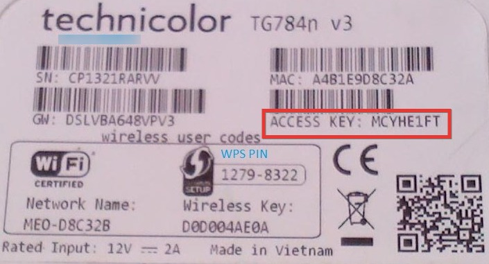 Technicolor Router Default Password and Username